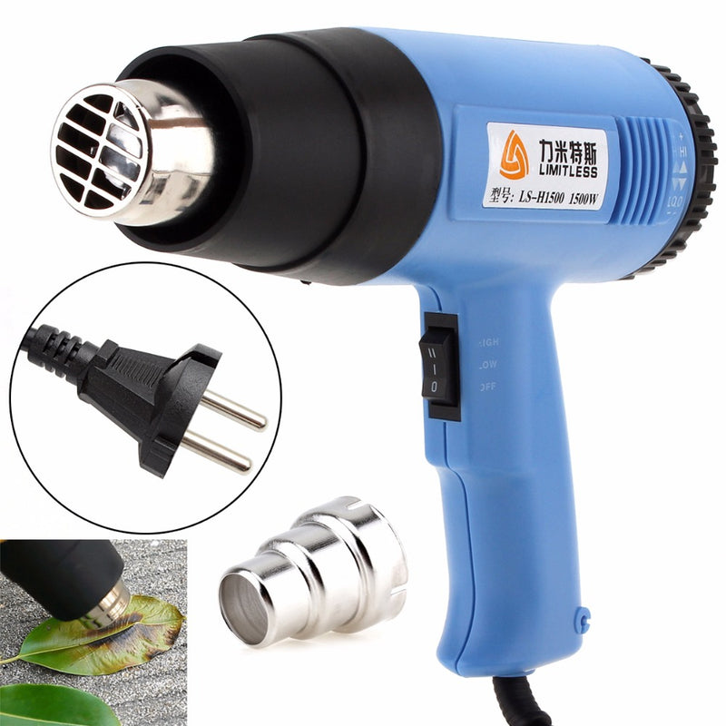 Limitless High quality AC220V EU Plug 1500W Adjustable Air Volume Electric Heat Gun Multifunctional Handheld Hotair Gun