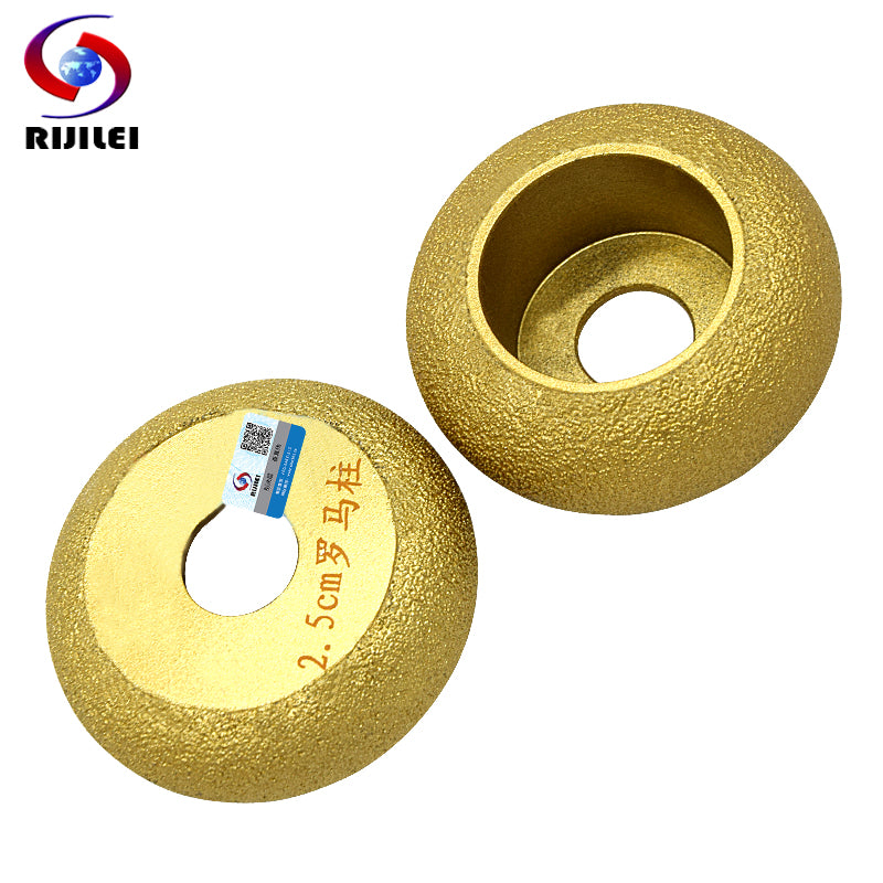 RIJILEI 74mm*20*10-40 Brazing Diamonds Marble Sanding Disc Angle Grinder Grinding wheel Rome column edging discs MX47