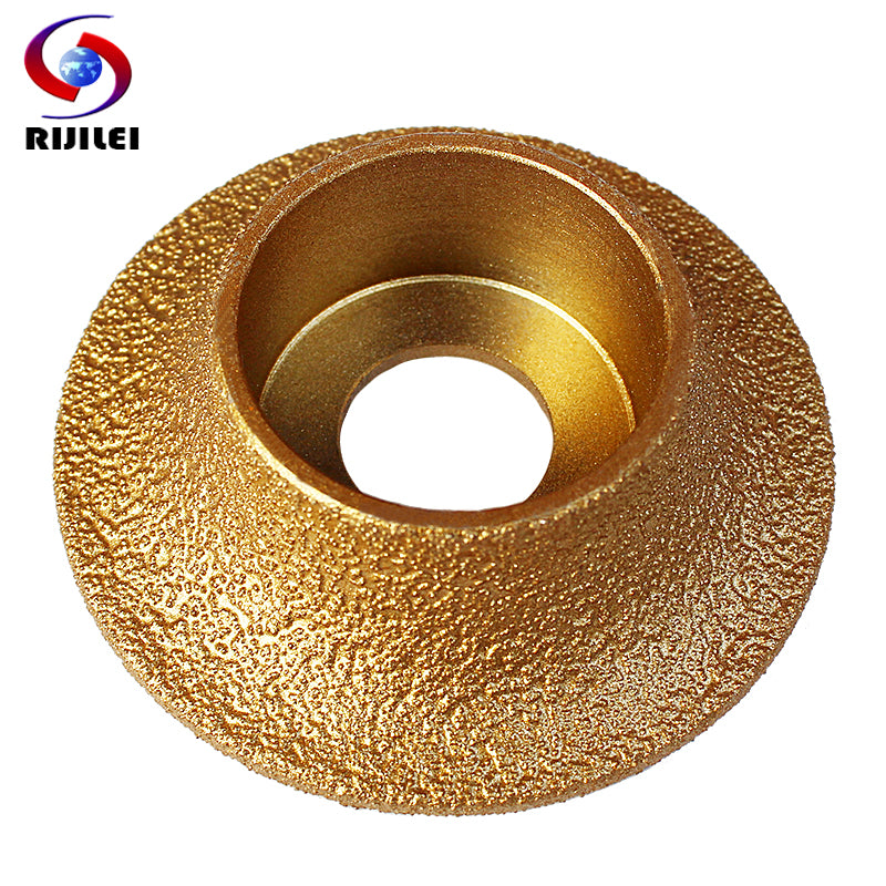 RIJILEI 74mm*20*10-25 Brazing Diamonds Marble Sanding Discs Angle Grinder Grinding wheel 1/4 Round Hand Profile wheel MX48