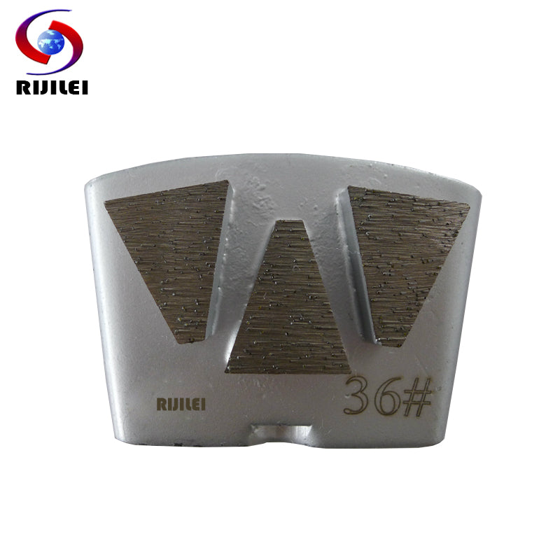RIJILEI 3PCS/lot Diamond Grinding Plates HTC Concrete Metal Bond Diamond Grinding Shoes  for Concrete Floor Renovation H50