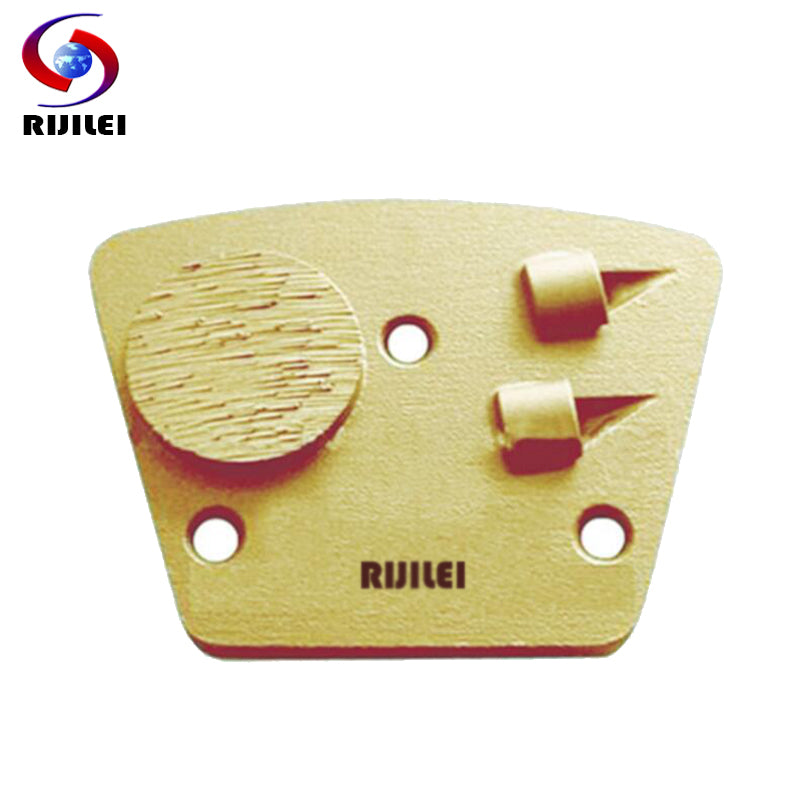 RIJILEI 3PCS/lot PCD Tipped Grinding Block Plate diamond grinding shoes for Removing Epoxy Glue Paint on Concrete Floor PCD3