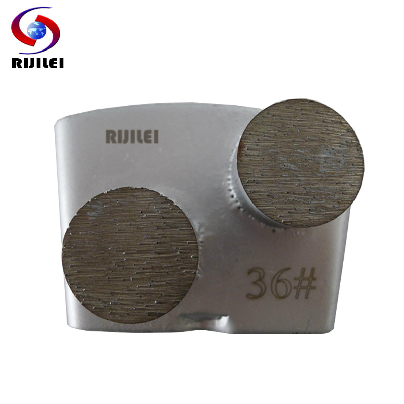 RIJILEI 3PCS/lot HTC diamond grinding shoes Two Round Segments Grinding Block Plate for Concrete Floor Renovation H40
