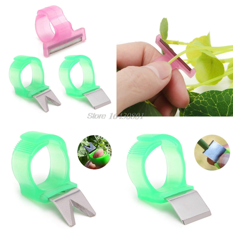 Tomato Cucumber Grape Fruit Picking Garden Tools Blade Cutting Scissors Rings #S018Y# High Quality