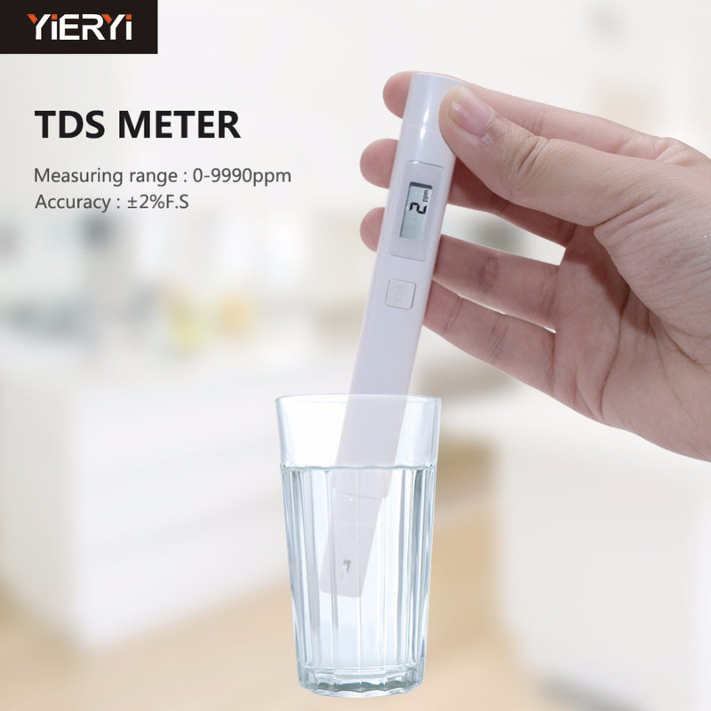 TDS Meter Detection Pen Digital Water Filter Measuring Quality Purity PH Pocket Tester Waterproof