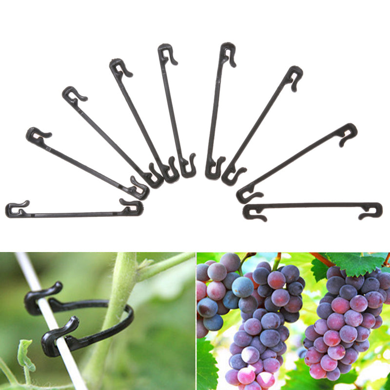 100/200pcs Plastic Plant Clips Garden Tools Grafting Clips Graft Pruner Fastener Plant Vines Garden Vegetable Tendril Clip