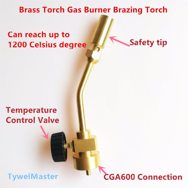 "Gas Burner Propane MAPP Heating Torch Connection CGA600(1""-20UNEF) Suitable 14.1-16oz Cylinder Brazing Gas Welding Torch"