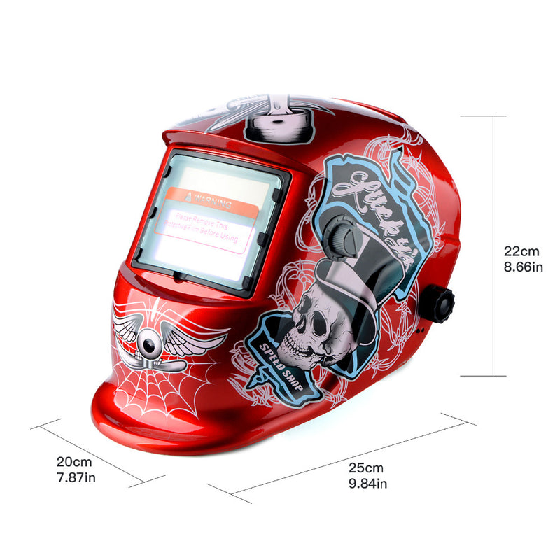 New Red Skull Solar Auto Darkening MIG MMA Electric Welding Mask/Helmet/welder Cap/Welding Lens for Welding Machine