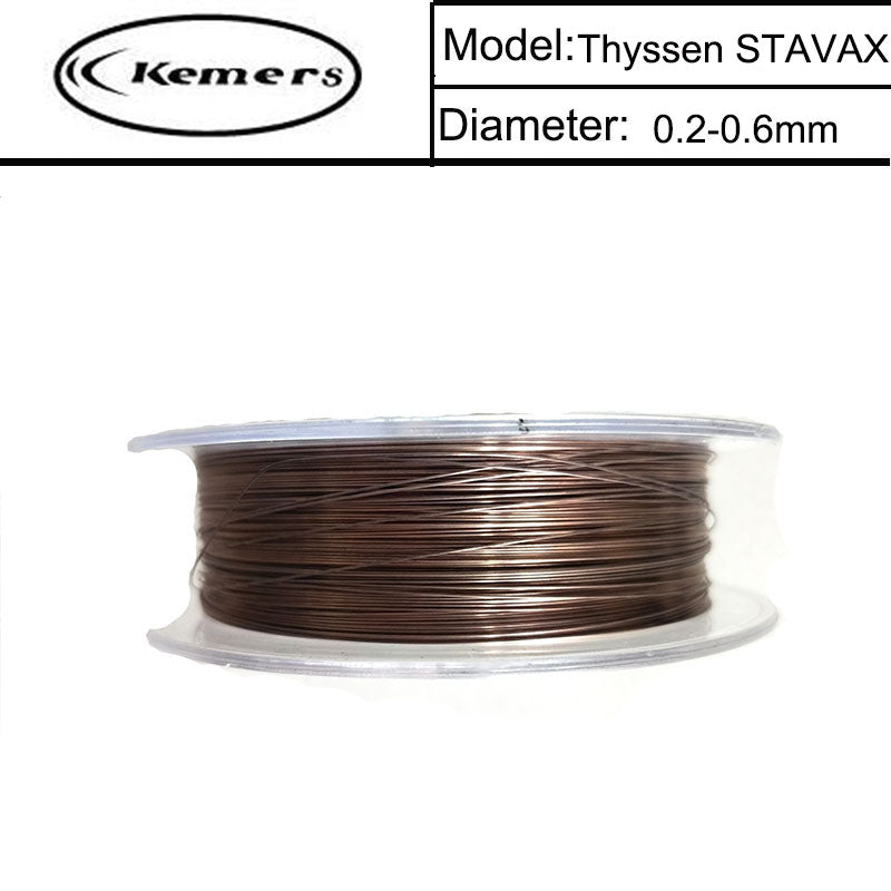 Kemers Reel Laser welding wire Thyssen STAVAX of 0.2/0.3/0.4/0.5/0.6mm for Welders Made in Germany 100m/Roll LT201703