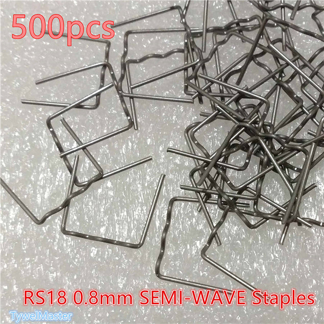 Hot Stapler  0.8mm Flat for Plastic Repair Wave Staples Bumper Bodywork Repairs RS18 SEMI-WAVE 500pcs