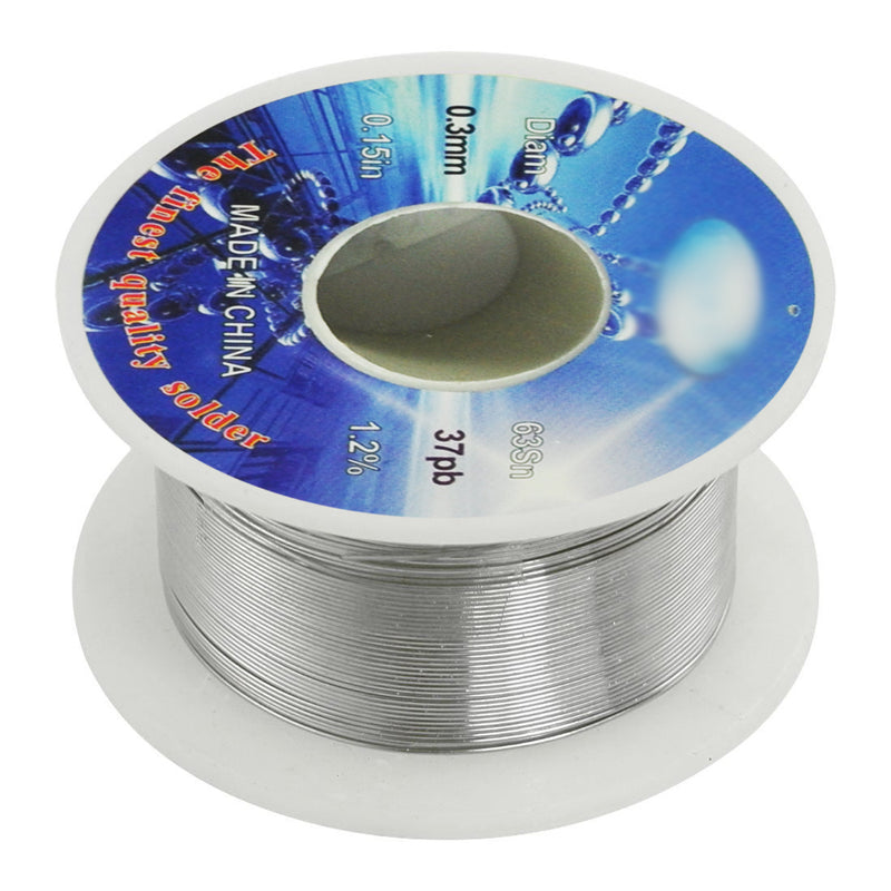 Solid Solder 0.3mm Flux Core 63% Tin 37% Lead Long Wire Reel
