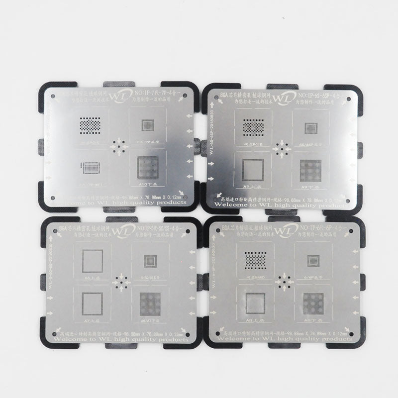 0.12mm4in1WL NAND Chip BGA Reball Tin plant Net Mesh Baseband Platform Tool Precise for iPhone 5 5s se 6 6s 7 7p  A7 A8 A9 A10