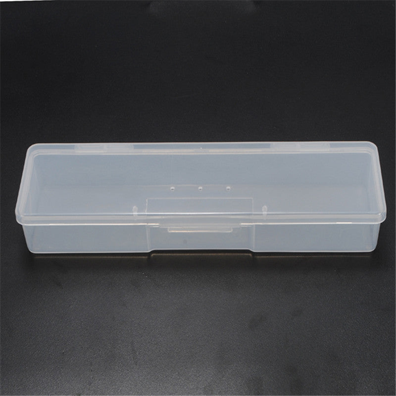 New pp Transparent Plastic Box Storage Box Rectangular Tool Plastic Collecting Transparent Nail Tips Case Jewelry Watch Boxes