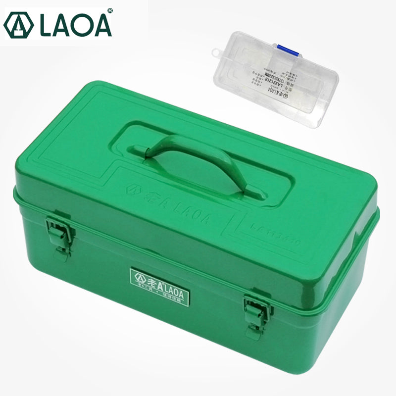 LAOA thicken hardware iron sheet tool case metal tool box Without tools