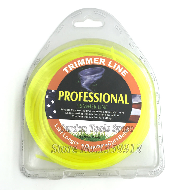 3.0MM Diameter round Brush Cutter Nylon 225g Grass Trimmer Line with yellow Color