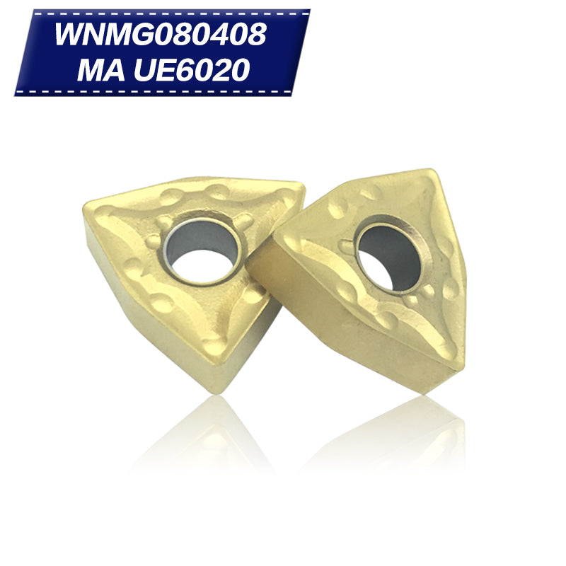 WNMG080408 MA UE6020 External Turning Tools Carbide inserts Cutting Tool CNC Tools Lathe cutter tools