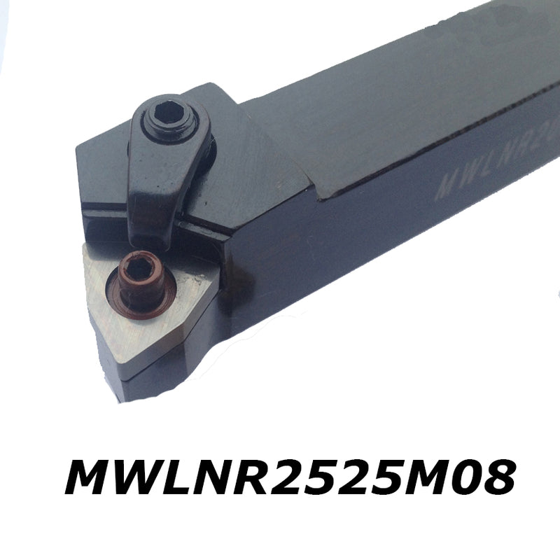External turning tool holder MWLNR2525M08  tungsten carbide insert cnc tool shank left hand holder for insert WNMG 08 size