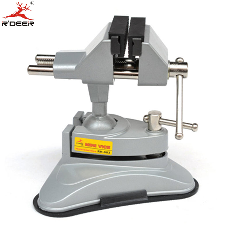 RDEER Bench Vise Universal Vacuum Suction Table Vise 360 Universal Adjustable Aluminium Alloy Bench Screw For Repair Tools