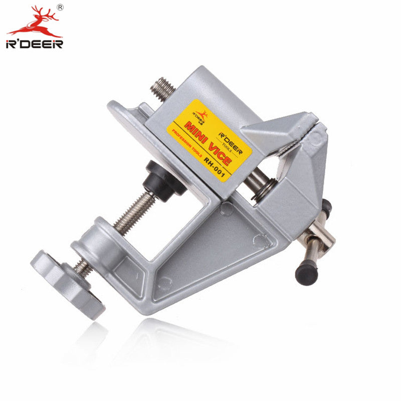 RDEER Mini Vise Aluminum Alloy Bench Vice Universal Machine Bench Clamp Fixed Repair Tool