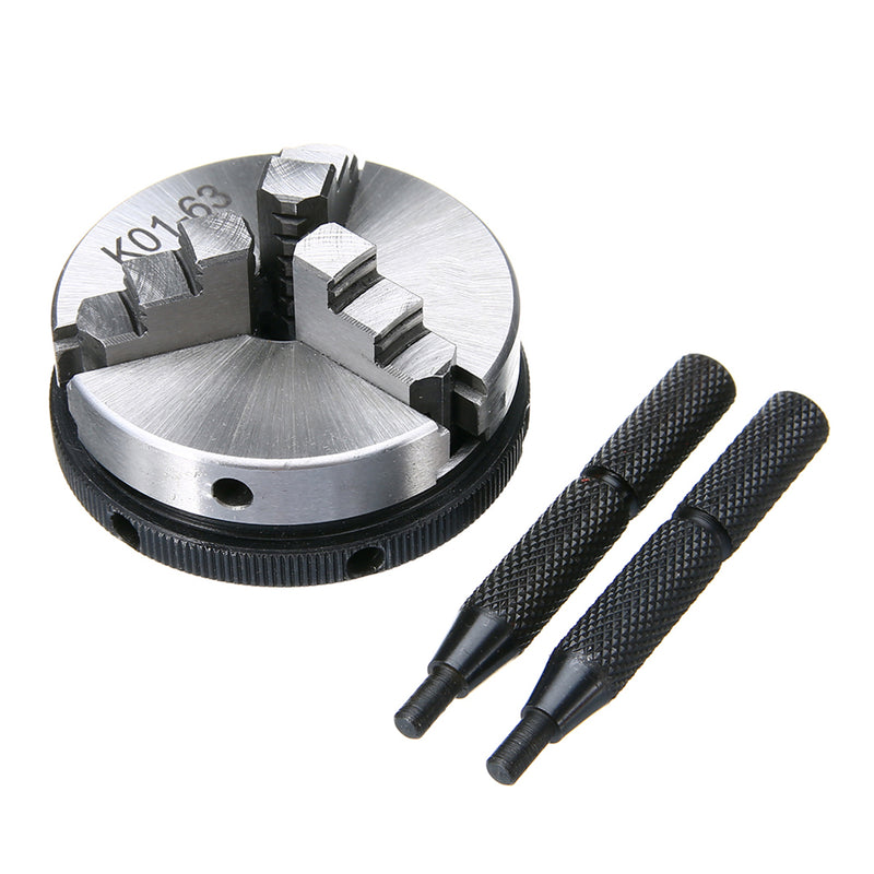 2.5inch 63mm 3 Jaw Chuck Mini Metal Lathe Chucks with 2pcs Lock Rods For Metalworking Machine Accessories Tools