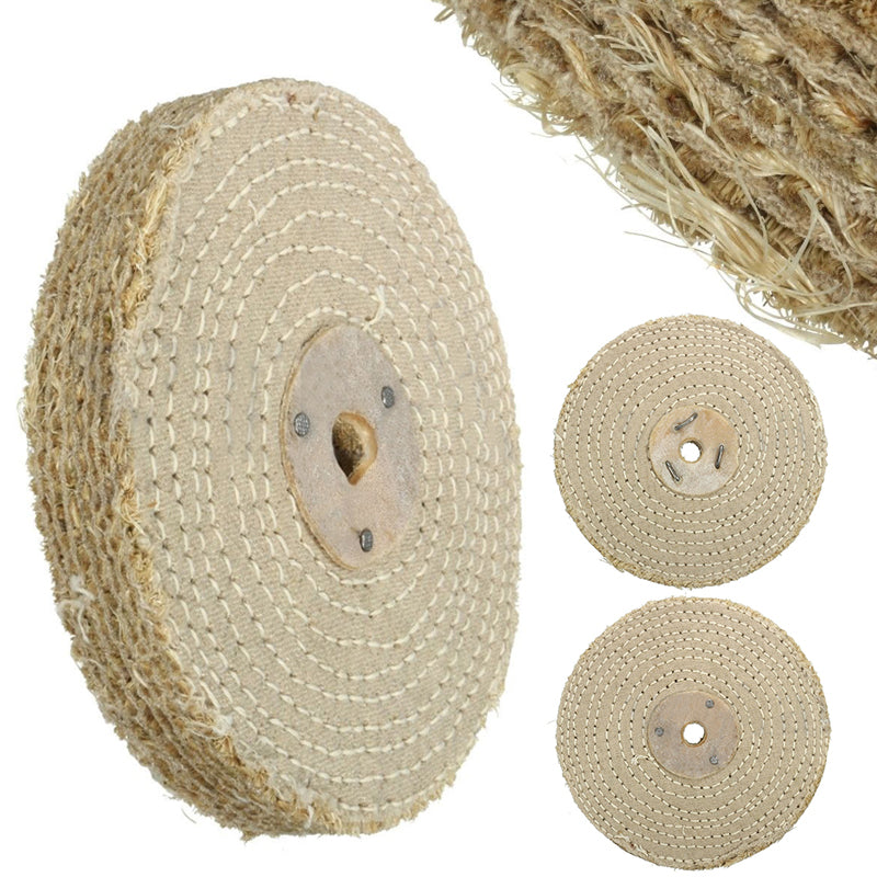 6 Sisal Cloth Buffing Wheel For Stainless Steel Metal