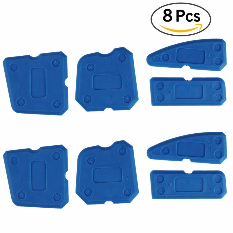 8 Pcs Sealing Tool Scraper Kit Joint Sealant Silicone Caulk Remover Sealant Finishing Tool Sealant Finisher Tool