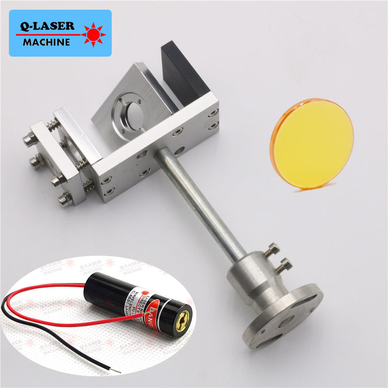 Whole Set 20mm Co2 Laser Beam Combiner with Mount and Laser Pointer For Laser Engraving Cutting Free Shipping