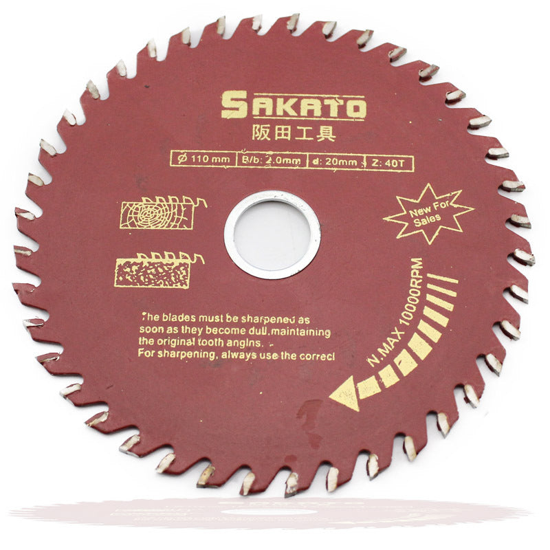 Wood Work 11000RPM Rotary Speed 115mm Dia 40T Cutting Saw Blade