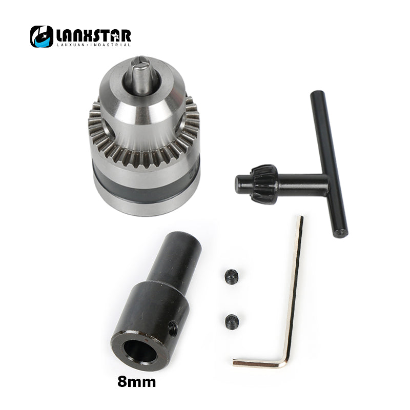 Multifunction Electric Drill Chuck 1.5~10mm B12 Taper Mounted Lathe Chuck PCB Mini Drill Press For 8mm Motor Shaft Connect Rod