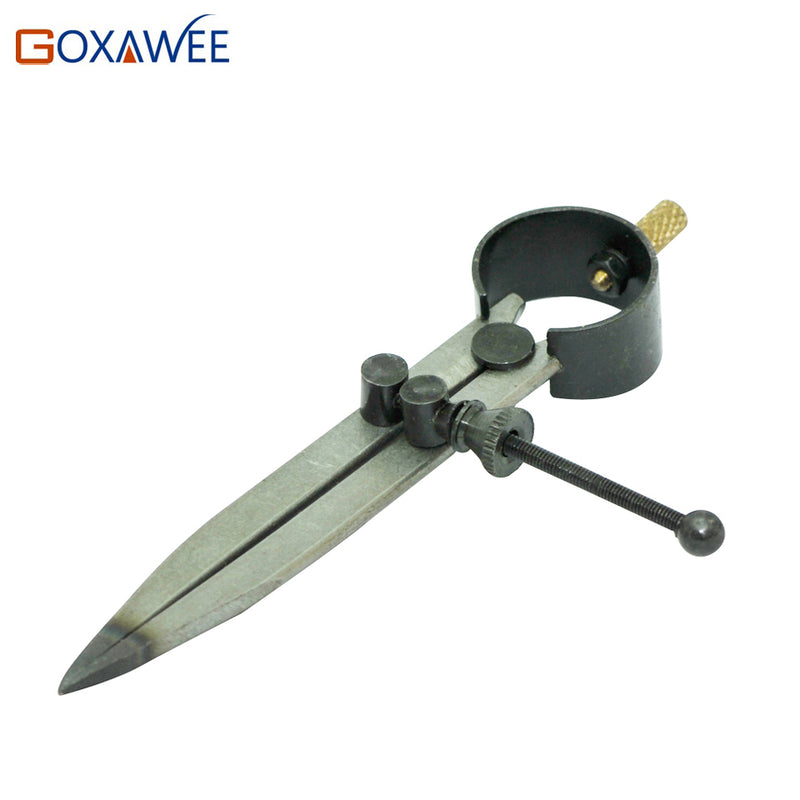 GOXAWEE Compass Divider  117mm for jewelry tools and machine Adjustable Wing Divider Edge Creaser DIY Leather Hand Craft Tool