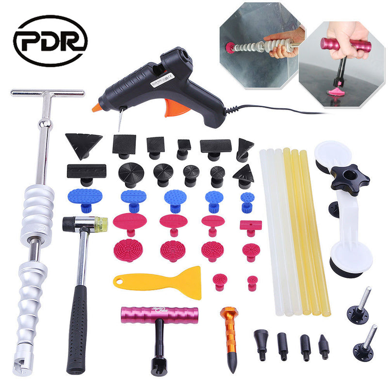 PDR Tools Car Body Repair Kit Auto Repair Tool Paintless Dent Repair Tools Dent Removal Puller Kit Hammer Tool Set