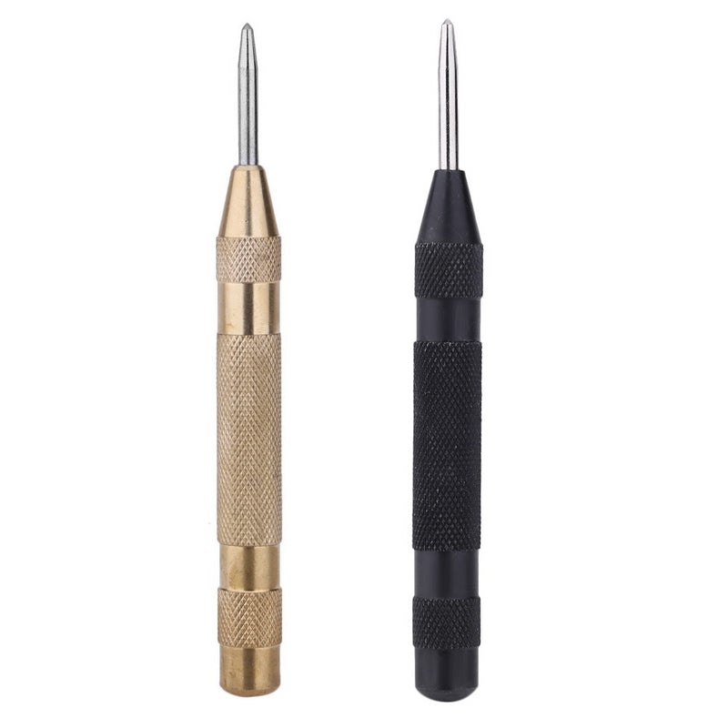 Precision 5 Inch Automatic Center Pin Punch Spring Loaded Marking Starting Holes Tool Golde / Black Precision Screwdriver Tool