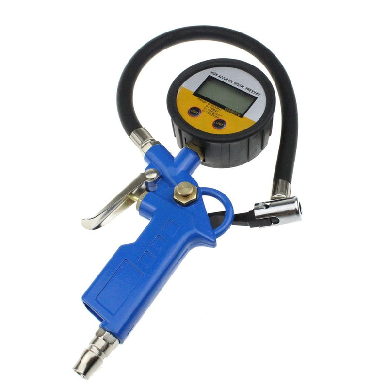 Digital Car Truck Air Tire Pressure Inflator Gauge LCD Display Dial Meter Vehicle Tester Tyre Inflation Gun Monitoring Tool
