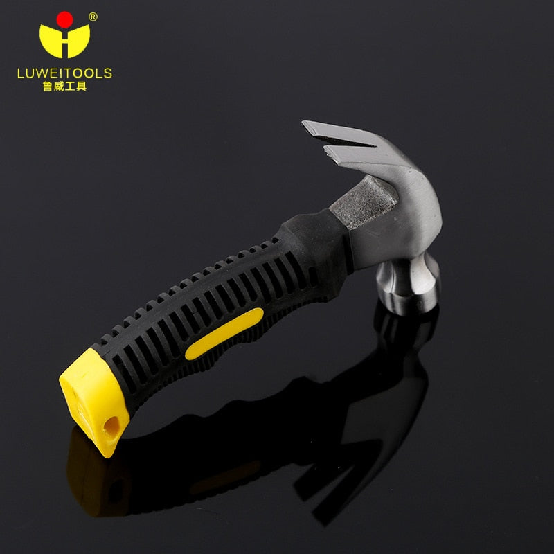 LUWEI 8oz Mini Claw Hammer 16cm length in TPR handle Woodworking Hammer Tools Brand Stainless Steel Handheld Hammer