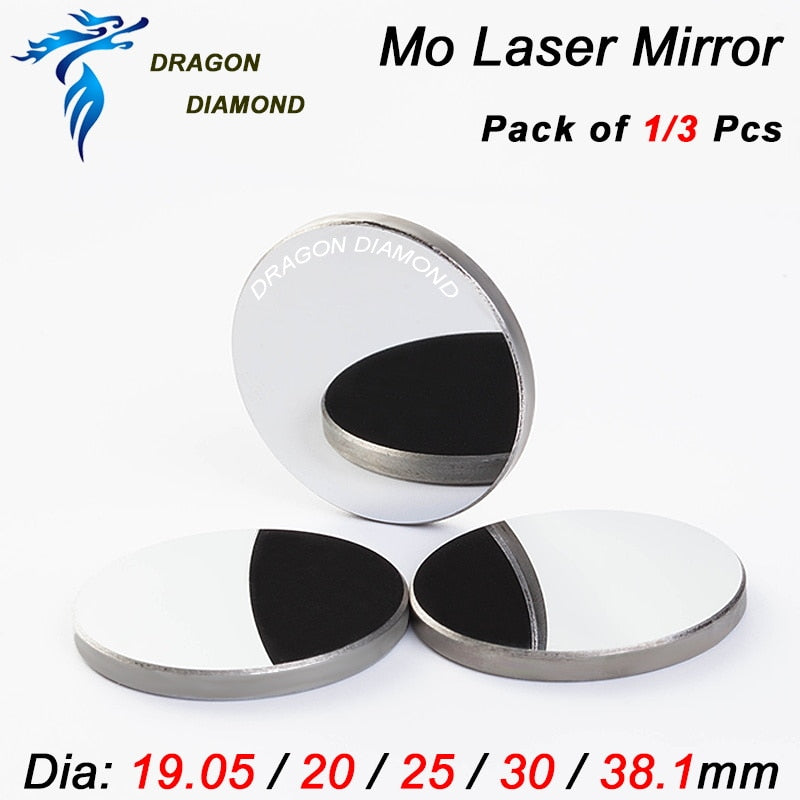 Mo Mirror 1pcs 3pcs Diameter 20mm 25mm 30mm 38.1mm for CO2 Laser Engraver Cutter Machine Laser Mirror Mo Reflective Mirror