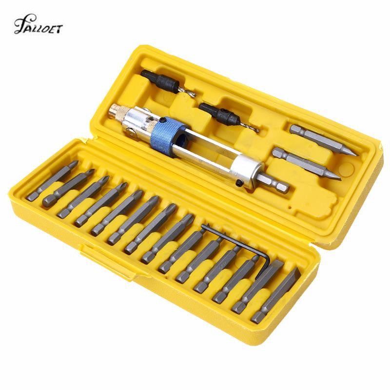 Multi 20 in 1 Precision Screwdriver Bit Set Head Joint 16 Different Head with Countersink Wrench Bits for Screwdrivers