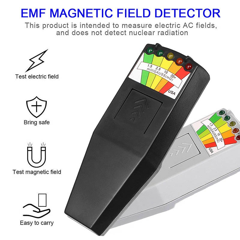EMF Meter Magnetic Field Detector with 9V Batteries Ghost Hunting Paranormal Equipment New --M25