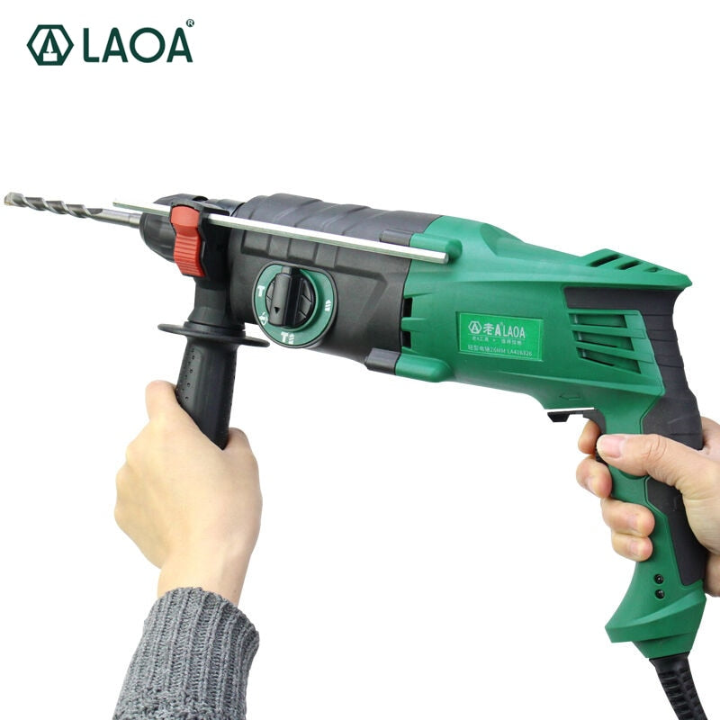 LAOA 900W light weight electric hammer 26mm diameter triple-purpose electric drill Furadeira Power tools With Accessories