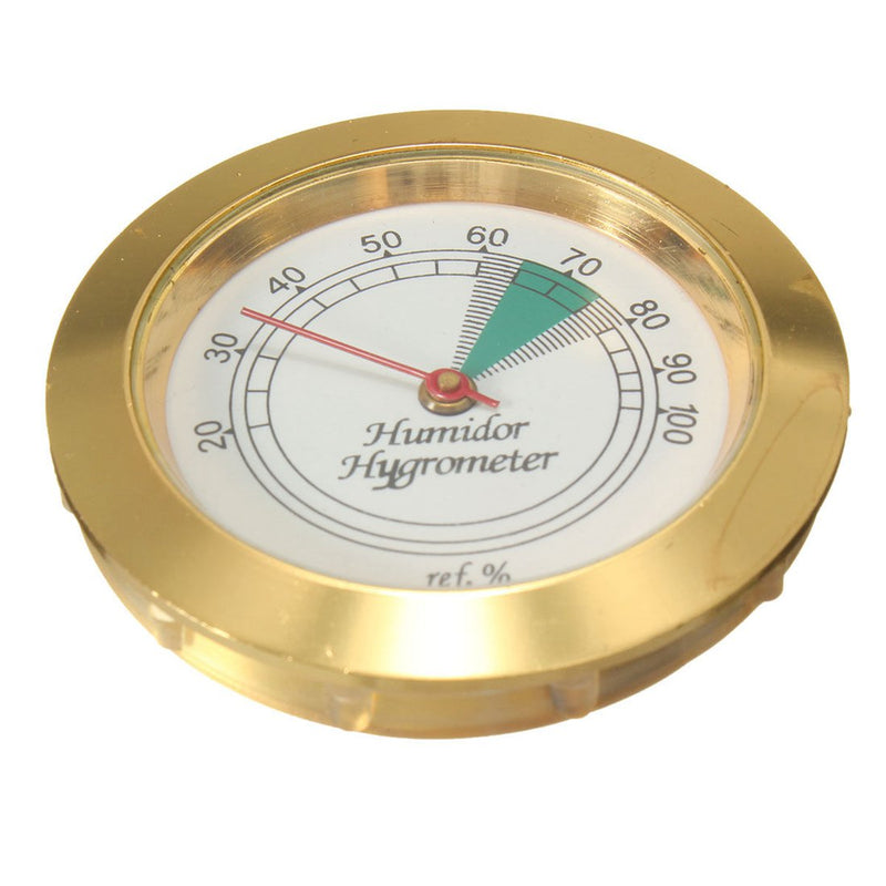 1pc 43mm Calibrate-able Gold frame Round hygrometer For Cigar box Metal