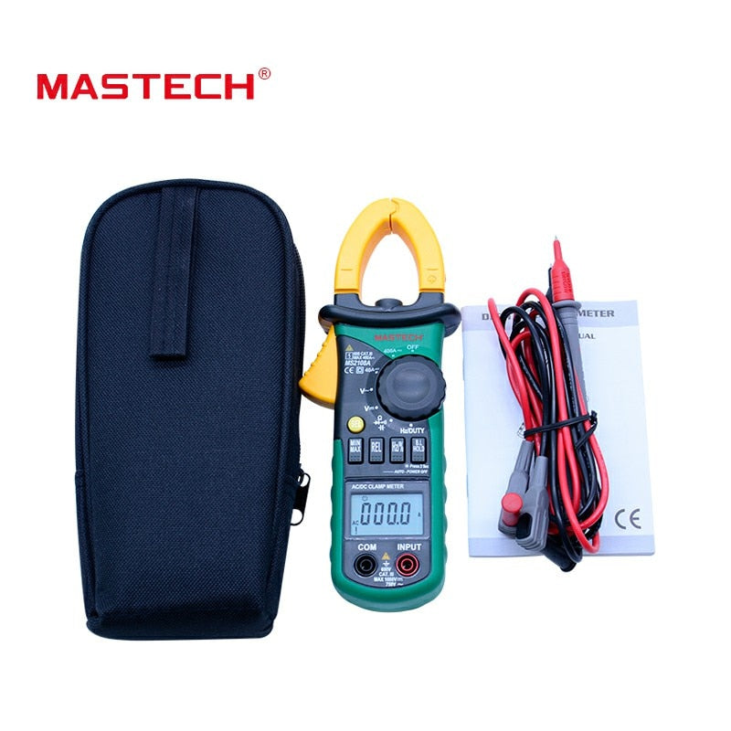 Mastech MS2108A Digital Clamp Meter Auto range Multimeter AC 400A Current Voltage Frequency clamp MultiMeter Tester Back