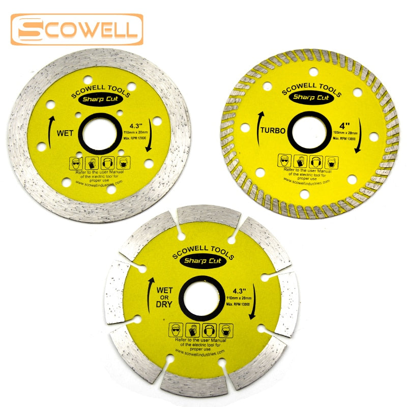 30% Off Sharp Cut Diamond Cutting Disc Tile Cutter Saw Blade for Brick Stone & Concrete Wet Dry Cutting Blade Turbo Diamond Saw