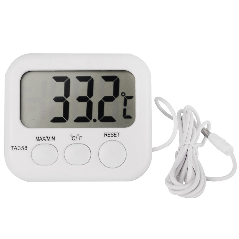 Refrigerator Aquarium Kitchen Electronic LCD Max-Min Thermometer Digital Thermo Temperature Meter with Probe Sensor Cable