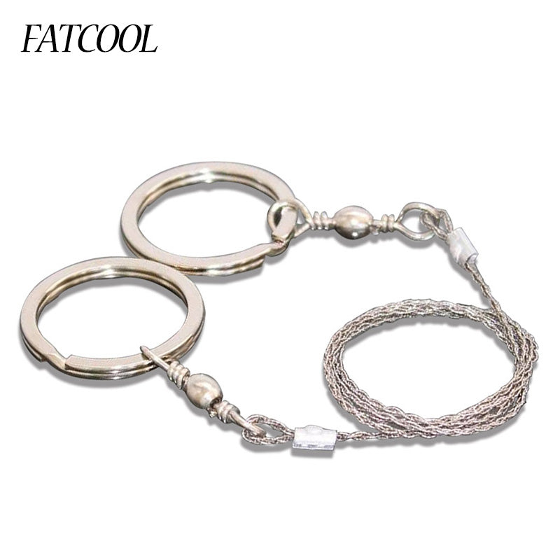 FATCOOL 65cm Outdoor Camping Hiking Manual Hand Steel Rope Chain Saw  Practical Emergency  Gear Steel Wire Kits Travel Tools