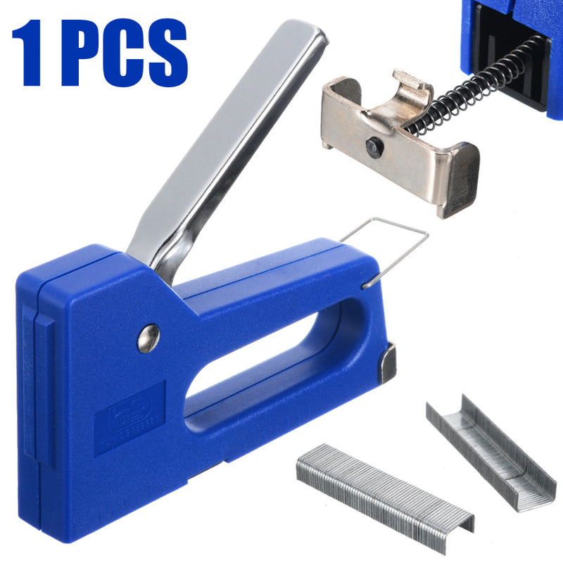 Mini Staple Nail Stapler Stapling Machine Kit with 100pcs 6mm Nails For Furniture Woodworking Stapler Hand Tools
