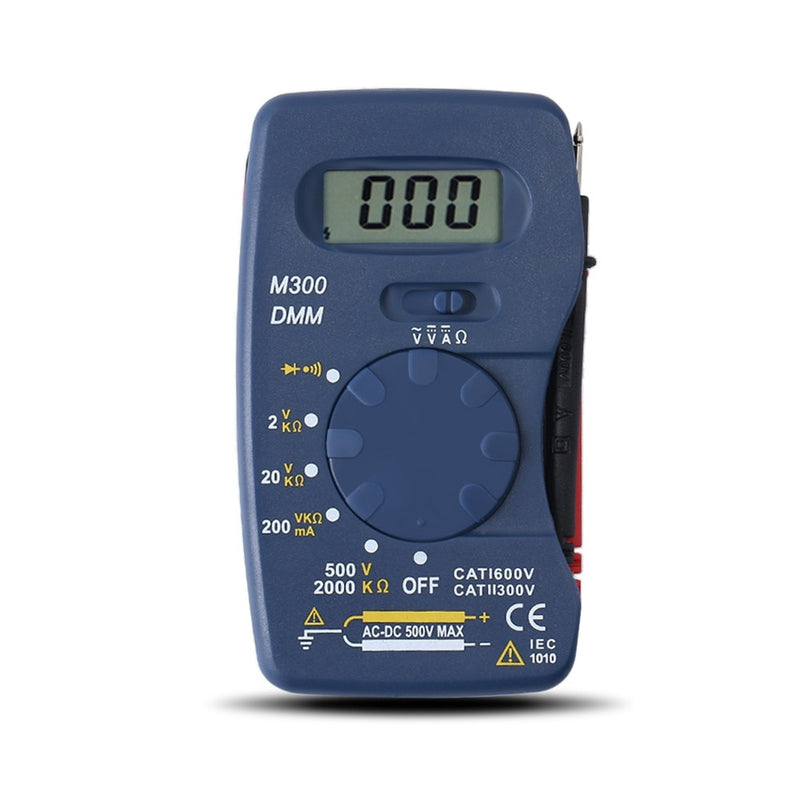 Mini Digital Multimeter Pocket DMM AC/DC Current Voltage Resistance Multitesters Mini Ammeter Voltmeter Ohm Testers