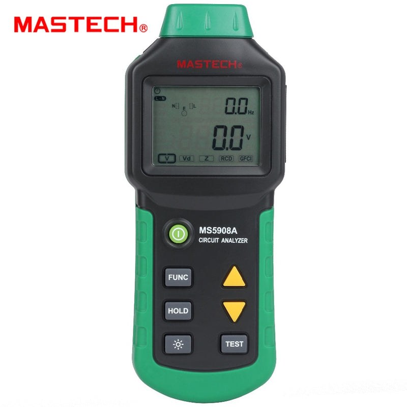 Mastech MS5908 RMS Circuit Analyzer Tester Compared w/ IDEAL Sure Test Socket Tester 61-164CN 110V or 220V