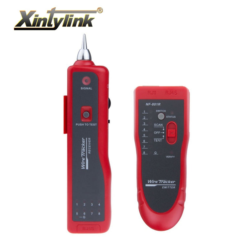xintylink network cable tester red rj11 rj12 rj45 cat5 cat6 cat7 telephone wire tracker toner ethernet lan detector line finder