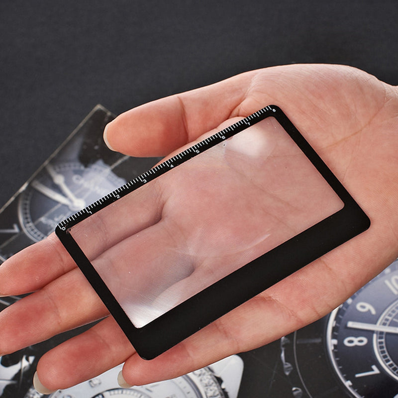 1PCS Mgnifying Glass Credit Card 3 X Magnifier Magnification Magnifying Lens for Reading Book