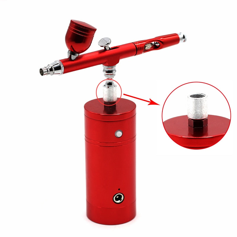 Dual Action Airbrush With Compressor Spray Gun Pump Pen  For Aail Art Paint Cake Decorating Models Car Tattoo Body  Drawing Tool