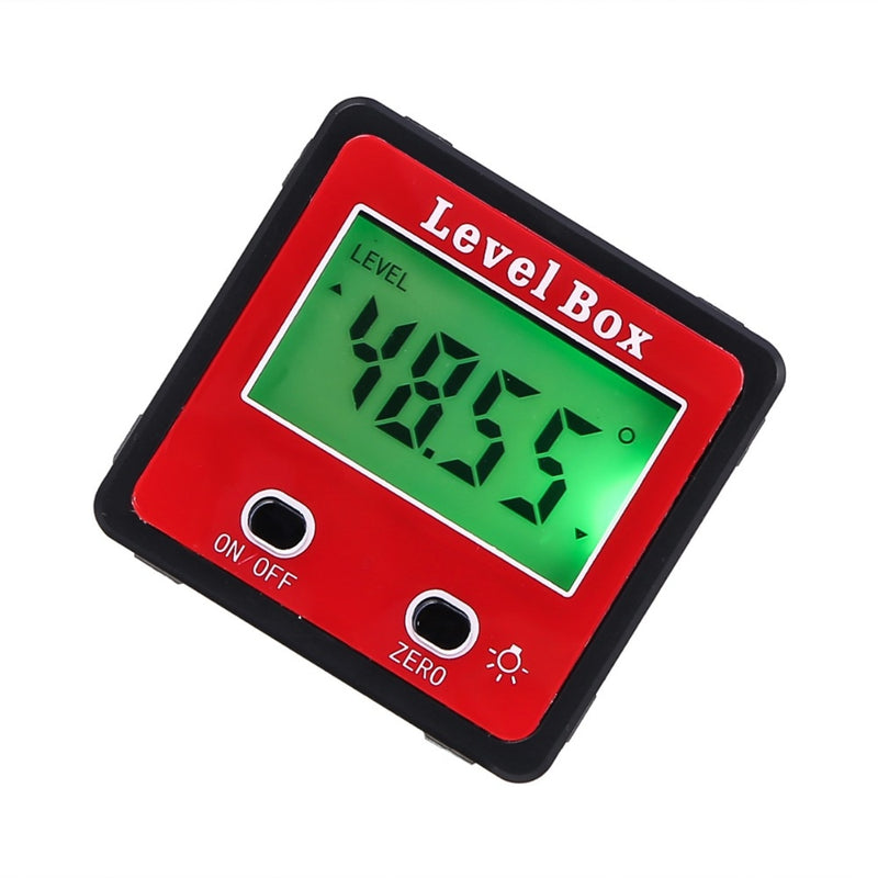 ANENG 2-key Digital Inclinometer Level Box Protractor Angle Finder Gauge Meter Bevel