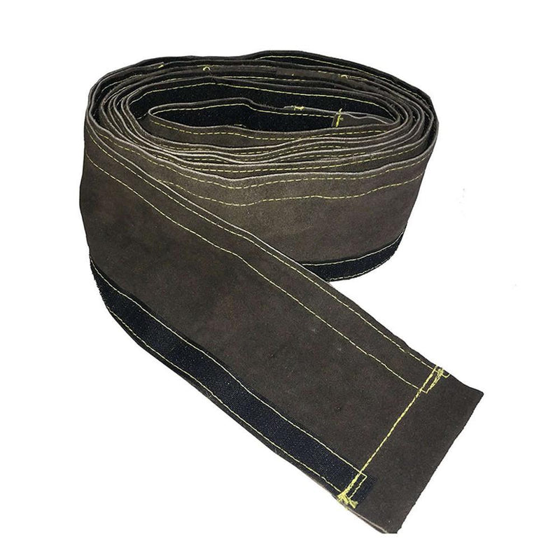 Welding Cable Sleeve Torch Cable Cover 10x350cm (4in x 11.5ft) Split Cowhide Leather TIG/MIG/Plasma Cable Sleeves
